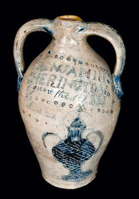 Memorial Jug for a Connecticut Potter who Drowned in 1823