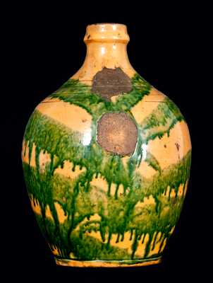 Important Great Road Pottery Jug, C.A. Haun, Greene County, Tennessee