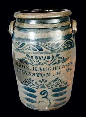 Knox Haught & Co., Shinnston, W. VA. Stoneware Jar