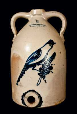 SATTERLEE & MORY 5 Gal. Stoneware Water Cooler w/ Bird Decoration