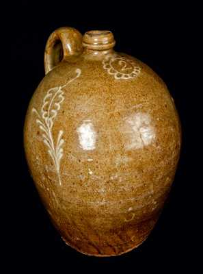 Slip-Decorated Colin Rhodes Edgefield, SC Stoneware Jug