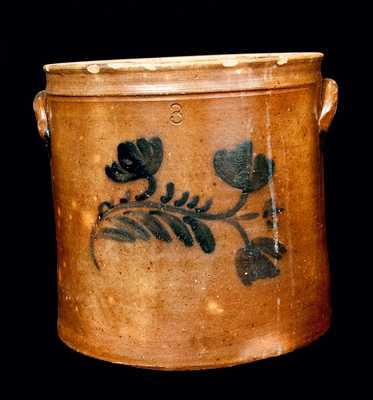 3 Gal. Floral-Decorated Stoneware Crock