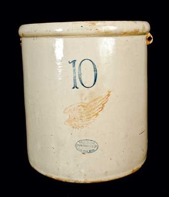 10 Gal. Signed Red Wing Stoneware Crock