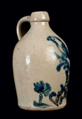 Saleman s Sample Stoneware Jug with Bird in Tree