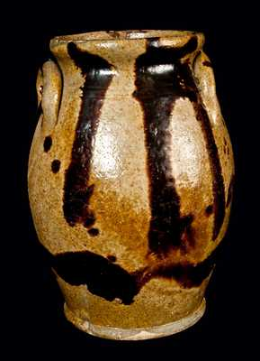 New England Redware Jar with Manganese Decoration