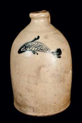 Stoneware Jug with Fish Decoration