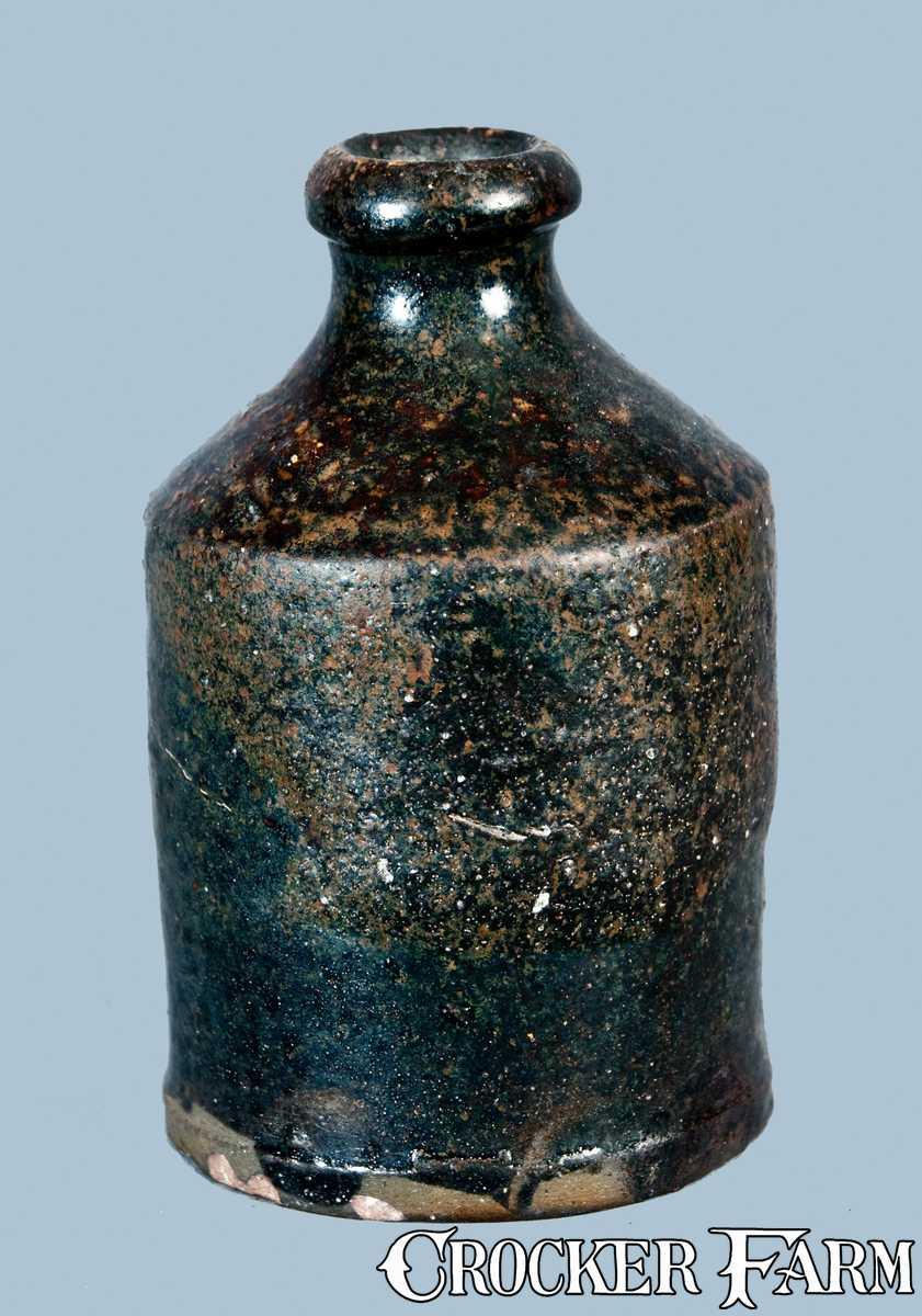 Albany Slip Glazed Stoneware Bottle Probably Southern Pottery Lot 163 October 29 2011