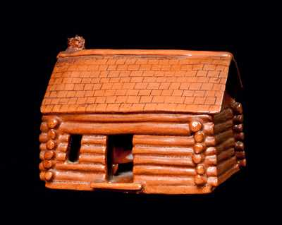 Probably Pennsylvania Redware Log Cabin