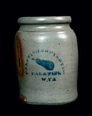 PALATINE, WV Stoneware Canning Jar with Pear
