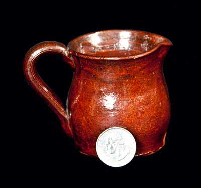 Miniature Redware Pitcher,