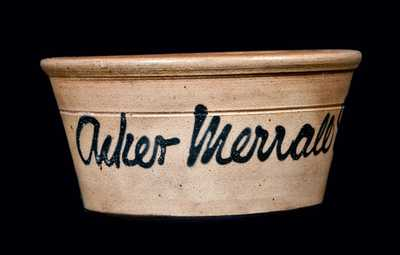New Jersey Stoneware Bowl w/ Script Advertising