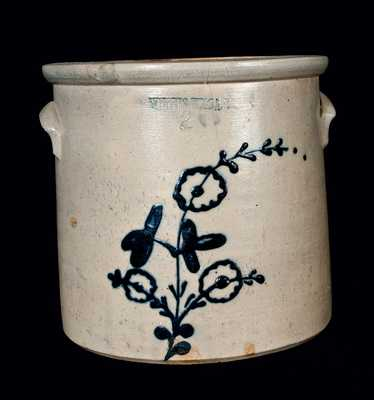 WHITES UTICA Stoneware Crock with Floral Decoration