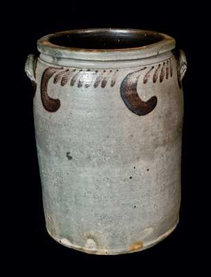 Four-Gallon Stoneware Jar w/ Manganese Decoration attrib. S. Bell & Son, Strasburg, VA