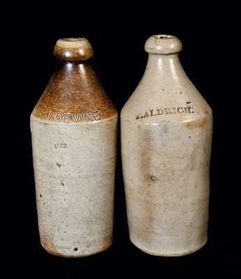 Lot of Two: Stoneware Bottles, Including One Dated 1852