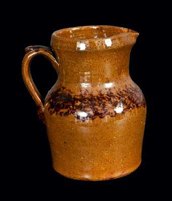 Redware Pitcher with Sponged Manganese at Shoulder