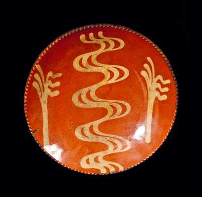 Slip-Decorated Redware Plate