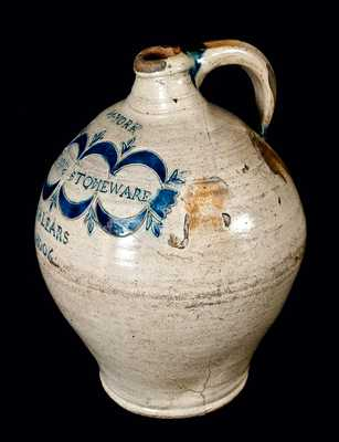 Exceptional Large Ovoid COMMERAWS STONEWARE Jug, Thomas Commeraw