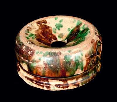 Shenandoah Valley Multi-Glazed Redware Spittoon
