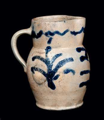 Quart-Sized Stoneware Pitcher, Baltimore circa 1825