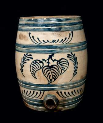 EDMANDS & CO Cobalt-Decorated Stoneware Keg Cooler, Six-Gallon