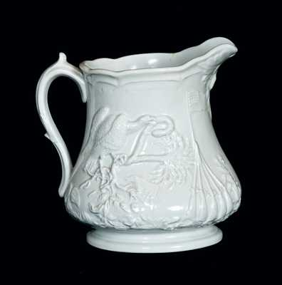 Millington, Astbury & Poulson, Trenton, NJ, Ironstone Civil War Commemorative Pitcher
