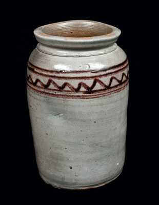 Rare Henry Glazier, Huntingdon, PA, Decorated Stoneware Jar