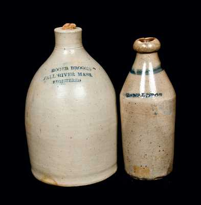 Lot of Two: Stoneware Jug and Bottle