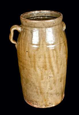Four-Gallon Southern Pottery Stoneware Churn