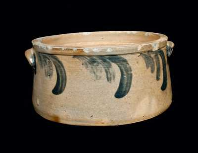 Decorated Stoneware Cake Crock, Baltimore, circa 1870