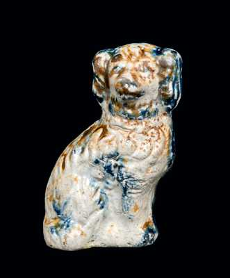Miniature Stoneware Spaniel with Sponged Decoration