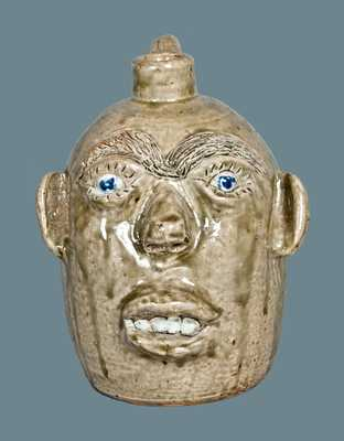 Stoneware Face Jug, Jerry Brown, Hamilton, AL, 1993