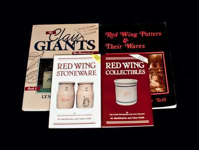 Lot of Four: Books on RED WING Stoneware