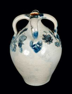 Rare Small Incised Four-Handled Stoneware Jug
