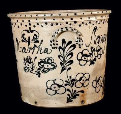 Exceptional William Warner (West Troy, NY) Stoneware Presentation Vessel