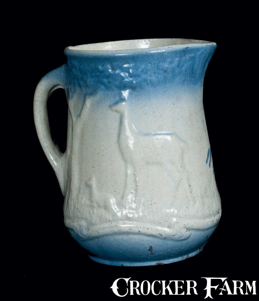 Blueware Pitcher With Deer Lot 395 July 21 2012