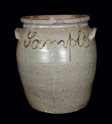 B.C. MILBURN / ALEXA (Alexandria, VA) Four-Gallon Stoneware Jar Inscribed