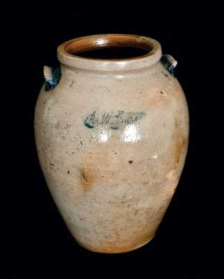 Early VA Stoneware Jar, Incised