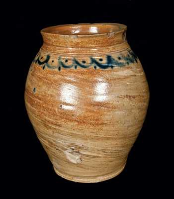 Manhattan, NY Stoneware Jar, attributed to the Crolius Family
