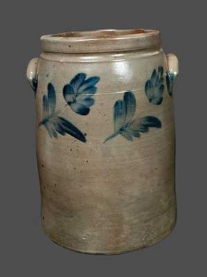5 Gal. R. J. Grier, Chester County, PA Stoneware Crock