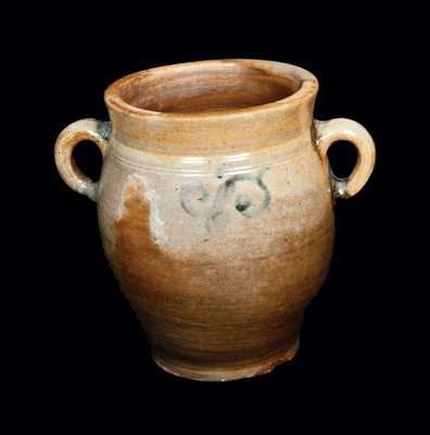 Vertical-Handled Stoneware Jar, NY or NJ, circa 1780