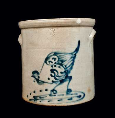 Stoneware Crock with Chicken Pecking Corn Decoration