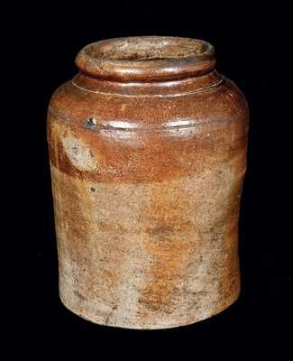 Iron-Oxide Decorated Stoneware Jar, possibly Alexandria, VA circa 1815