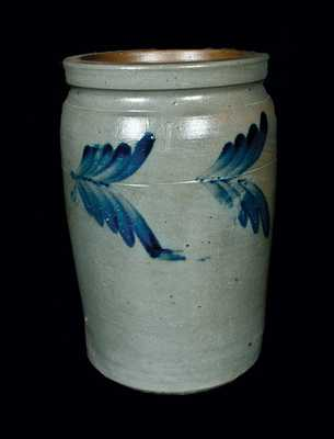 1 Gal. Stoneware Crock att. R. J. Grier, Chester Co., PA