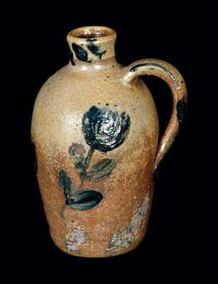 Exceptional Quart-Sized JOHN BELL Stoneware Jug, Signed / Dated C. F. Bell 1857