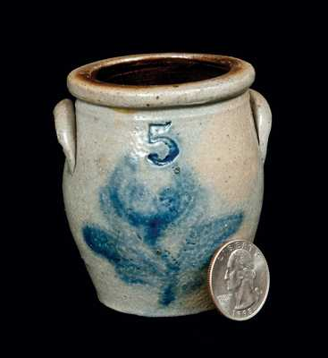 Rare Salesman s Sample Stoneware Crock, Central PA circa 1860