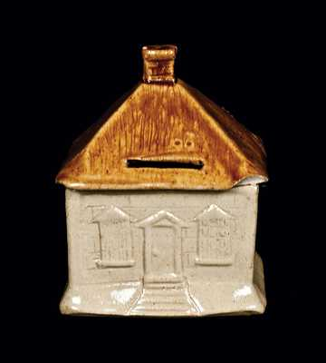English Stoneware House-Form Bank