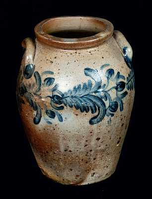 3 Gal. Floral Decorated Baltimore, MD Stoneware Crock, circa 1835