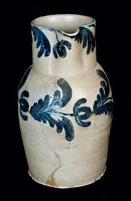 2 Gal. Floral Decorated Baltimore Stoneware Pitcher, circa 1835