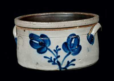 SAMUEL IRVINE / NEWVILLE, PA Decorated Stoneware Butter Crock