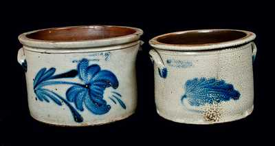 Lot of Two: COWDEN & WILCOX / HARRISBURG, PA Stoneware Butter Crocks